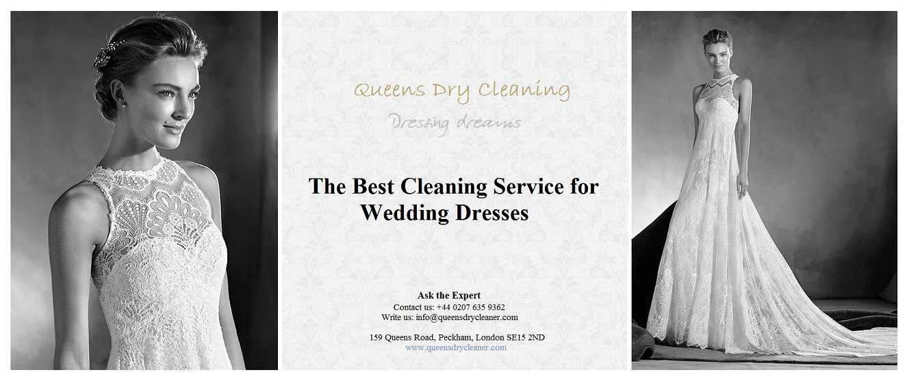 wedding dress drycleaning in uk
